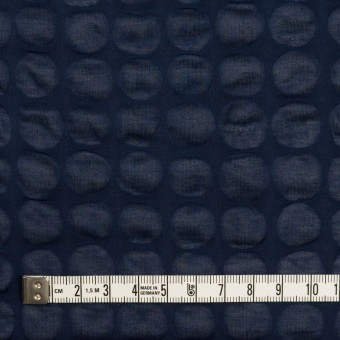 コットン×サークル(ネイビー)×ローン_塩縮加工_全2色 サムネイル4