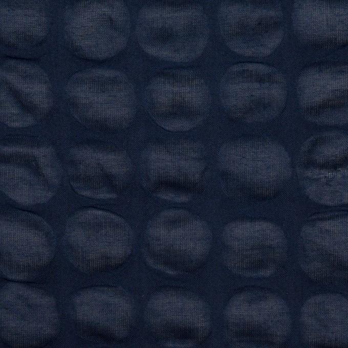 コットン×サークル(ネイビー)×ローン_塩縮加工_全2色 イメージ1
