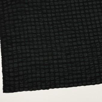 コットン×サークル(ブラック)×ローン_塩縮加工_全2色 サムネイル2