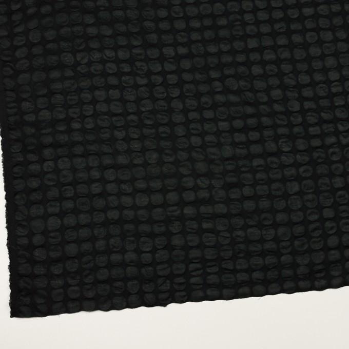 コットン×サークル(ブラック)×ローン_塩縮加工_全2色 イメージ2