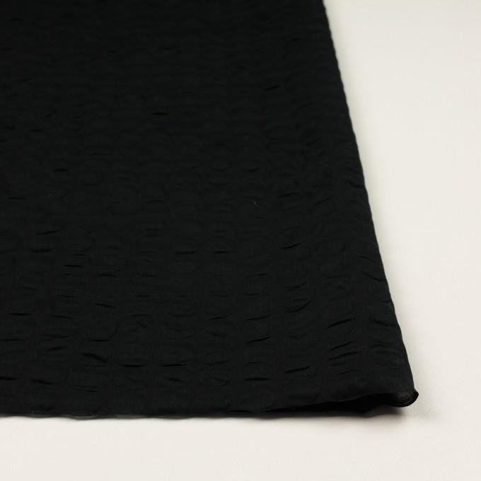 コットン×サークル(ブラック)×ローン_塩縮加工_全2色 イメージ3