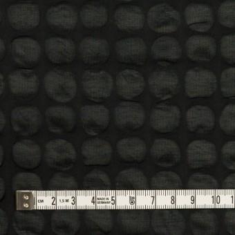 コットン×サークル(ブラック)×ローン_塩縮加工_全2色 サムネイル4