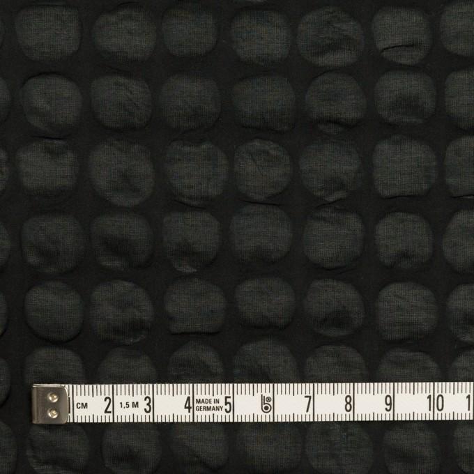 コットン×サークル(ブラック)×ローン_塩縮加工_全2色 イメージ4