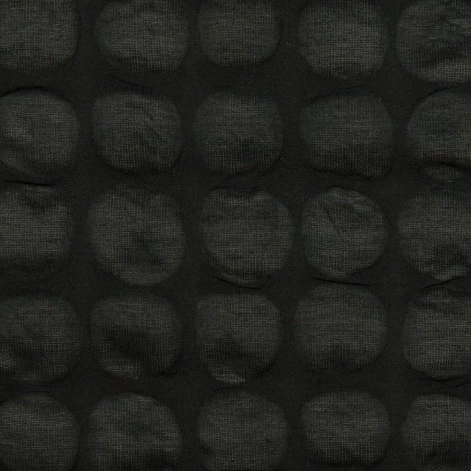 コットン×サークル(ブラック)×ローン_塩縮加工_全2色 イメージ1