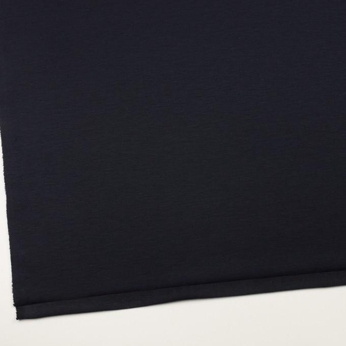 リヨセル&ナイロン混×無地(ダークネイビー)×Wニット イメージ2
