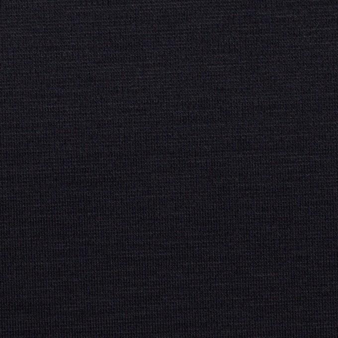 リヨセル&ナイロン混×無地(ダークネイビー)×Wニット イメージ1