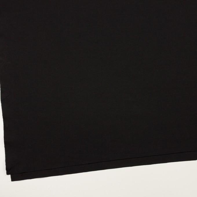 リヨセル&ナイロン混×無地(ブラック)×Wニット イメージ2