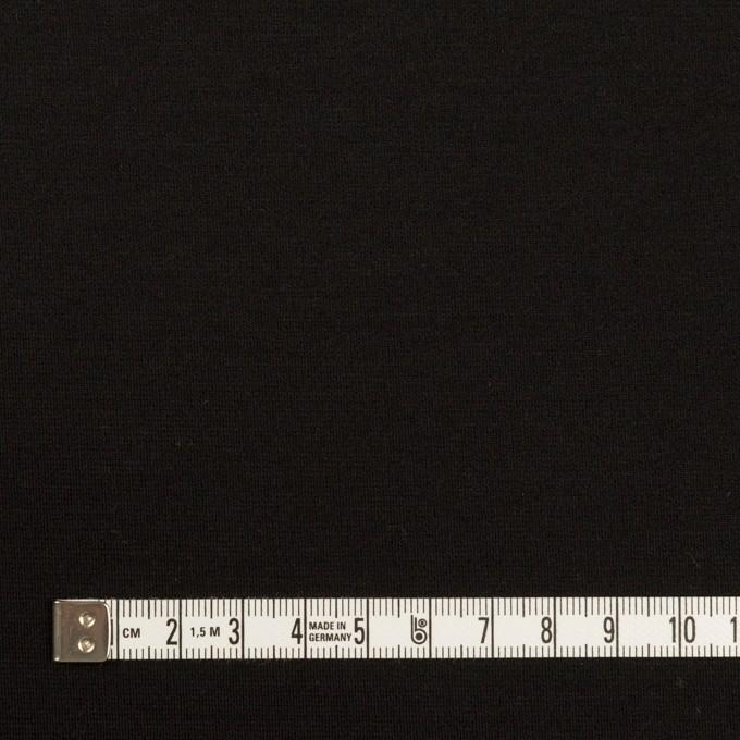 リヨセル&ナイロン混×無地(ブラック)×Wニット イメージ4