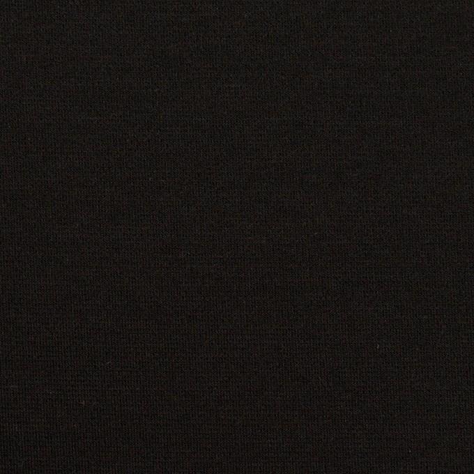 リヨセル&ナイロン混×無地(ブラック)×Wニット イメージ1