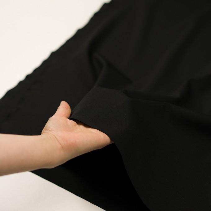 リヨセル&ナイロン混×無地(ブラック)×Wニット イメージ5