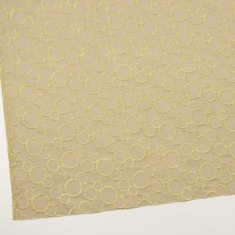 コットン×サークル(イエローマスカット&グレイッシュベージュ)×ローン刺繍_全4色 サムネイル2