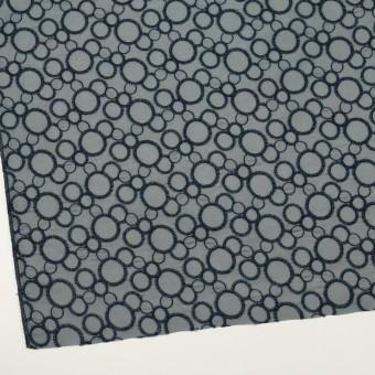 コットン×サークル(ネイビー&スモークグレー)×ローン刺繍_全4色 サムネイル2