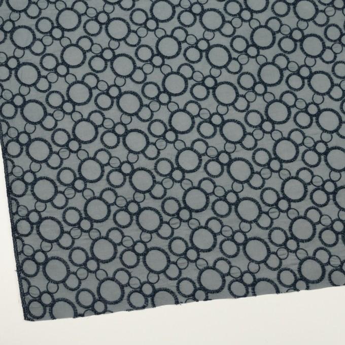 コットン×サークル(ネイビー&スモークグレー)×ローン刺繍_全4色 イメージ2