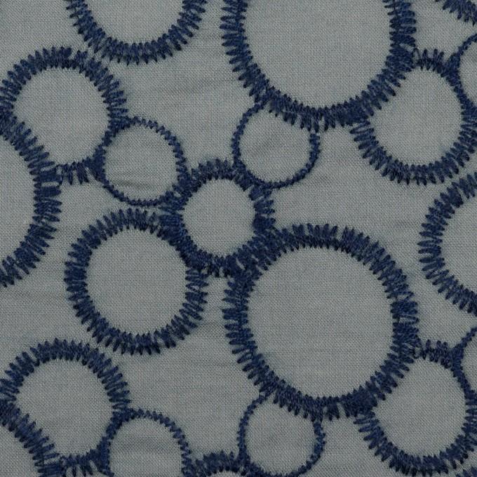 コットン×サークル(ネイビー&スモークグレー)×ローン刺繍_全4色 イメージ1