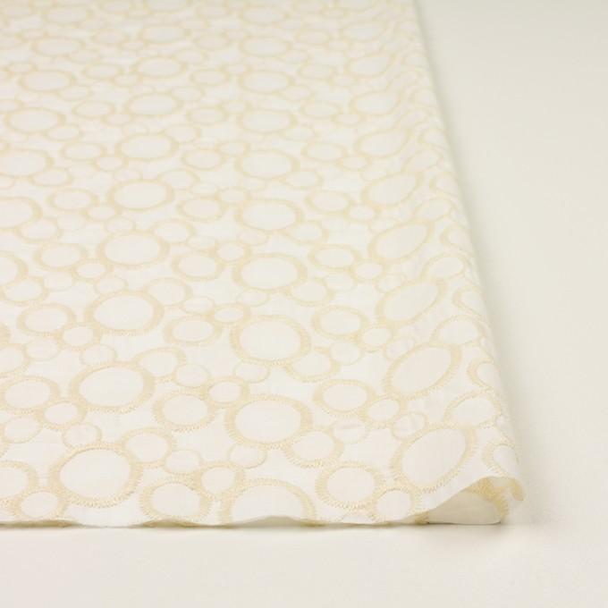 コットン×サークル(エクリュ&ホワイト)×ローン刺繍_全4色 イメージ3