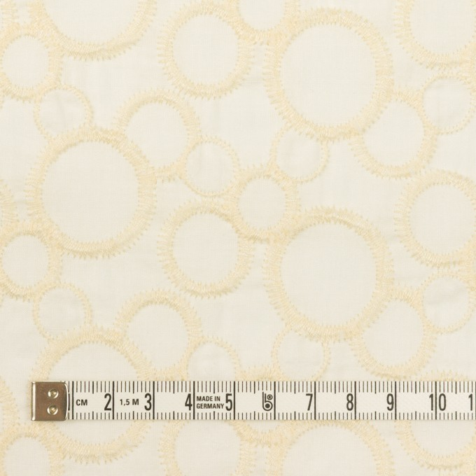 コットン×サークル(エクリュ&ホワイト)×ローン刺繍_全4色 イメージ4