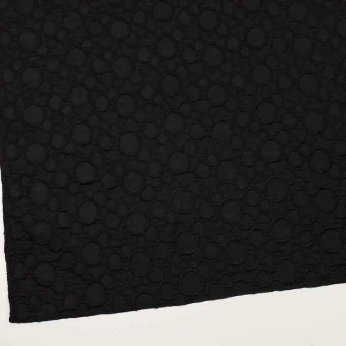 コットン×サークル(ブラック&ブラック)×ローン刺繍_全4色 イメージ2