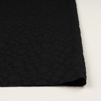 コットン×サークル(ブラック&ブラック)×ローン刺繍_全4色 サムネイル3