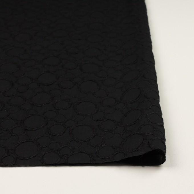 コットン×サークル(ブラック&ブラック)×ローン刺繍_全4色 イメージ3