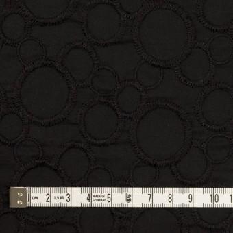 コットン×サークル(ブラック&ブラック)×ローン刺繍_全4色 サムネイル4