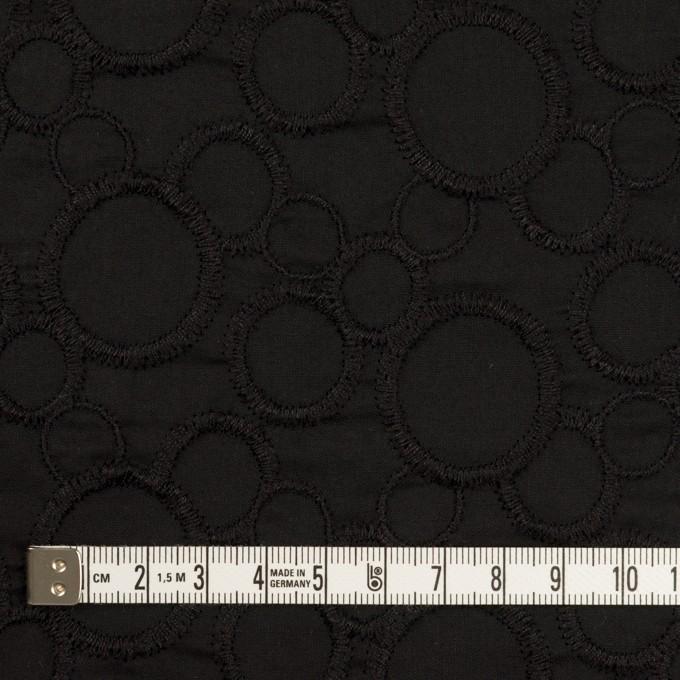 コットン×サークル(ブラック&ブラック)×ローン刺繍_全4色 イメージ4