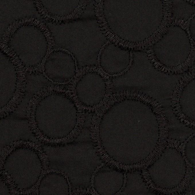 コットン×サークル(ブラック&ブラック)×ローン刺繍_全4色 イメージ1