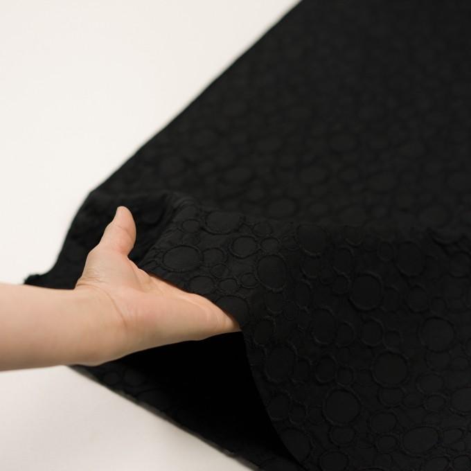 コットン×サークル(ブラック&ブラック)×ローン刺繍_全4色 イメージ5
