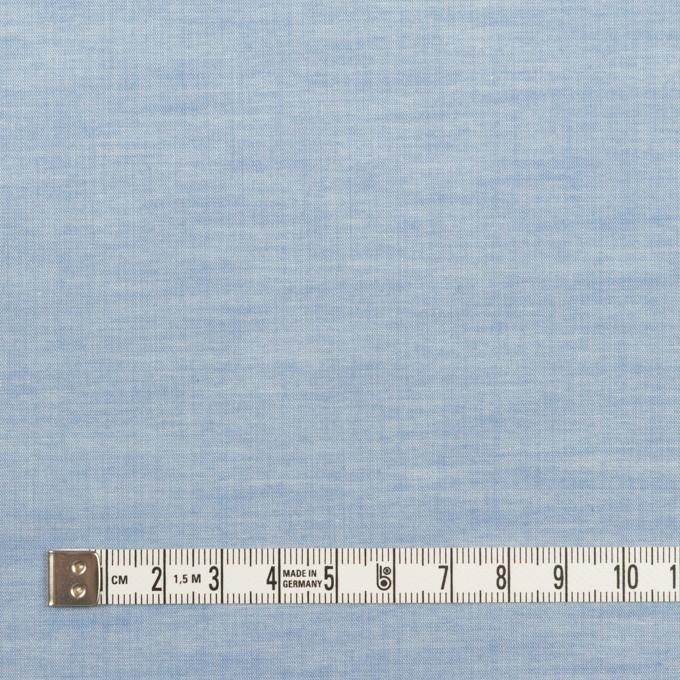 コットン&ポリウレタン×無地(サックス)×ローンストレッチ_全4色 イメージ4