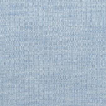 コットン&ポリウレタン×無地(サックス)×ローンストレッチ_全4色