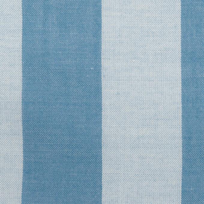 コットン&ポリエステル×ストライプ(ゼニスブルー)×ガーゼ_全2色 イメージ1