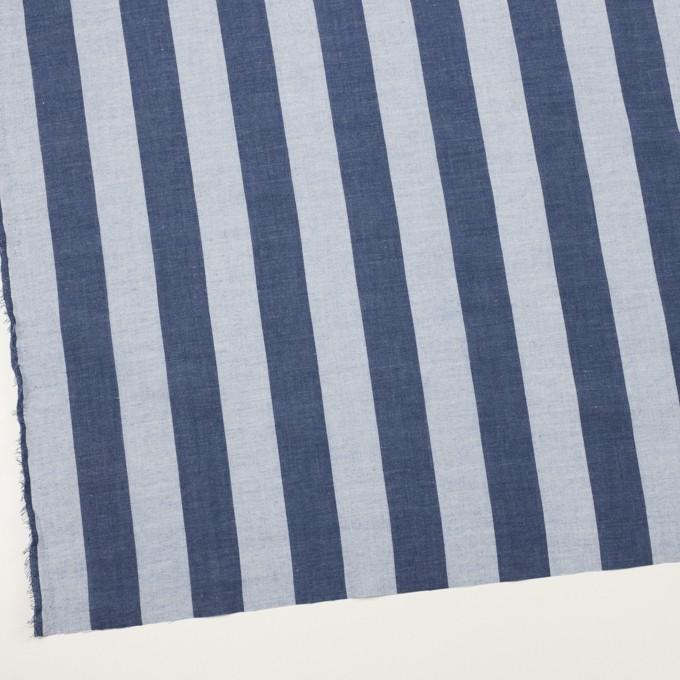 コットン&ポリエステル×ストライプ(アッシュネイビー)×ガーゼ_全2色 イメージ2