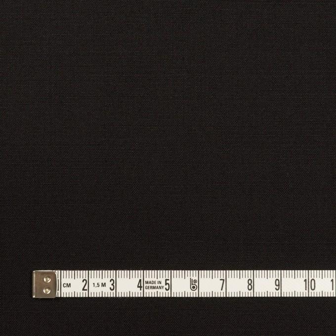ウール×無地(ブラック)×ポプリン イメージ4