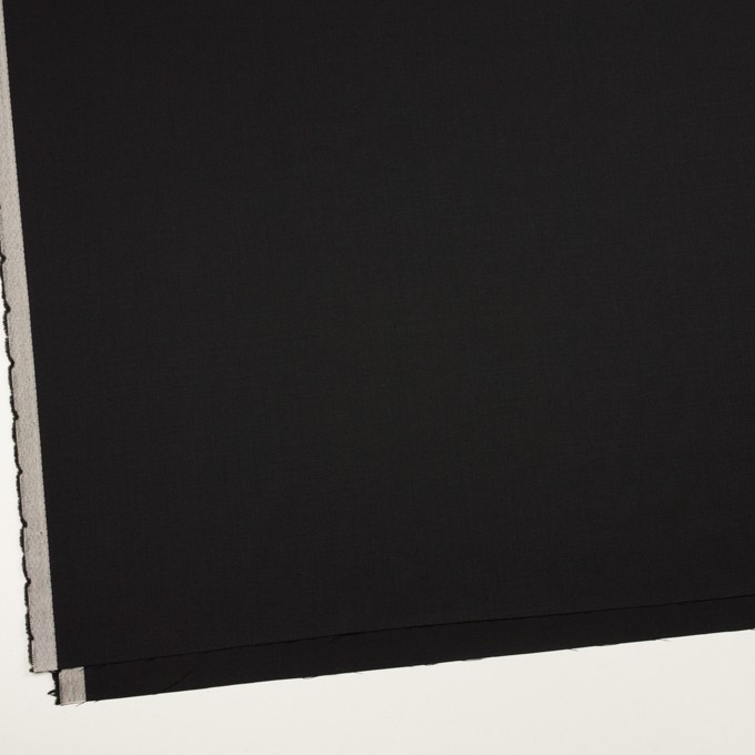 ウール×無地(ブラック)×サージ_イタリア製 イメージ2