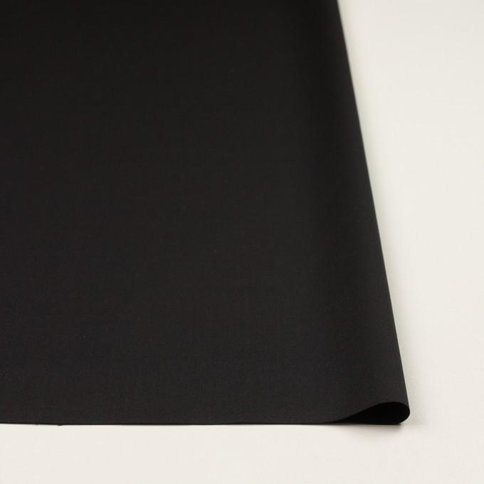 ウール×無地(ブラック)×サージ_イタリア製 イメージ3