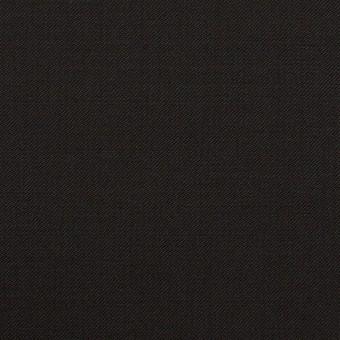ウール×無地(ブラック)×サージ_イタリア製