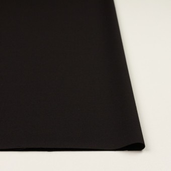 ウール&キュプラ混×無地(ブラック)×サージストレッチ_イタリア製 サムネイル3