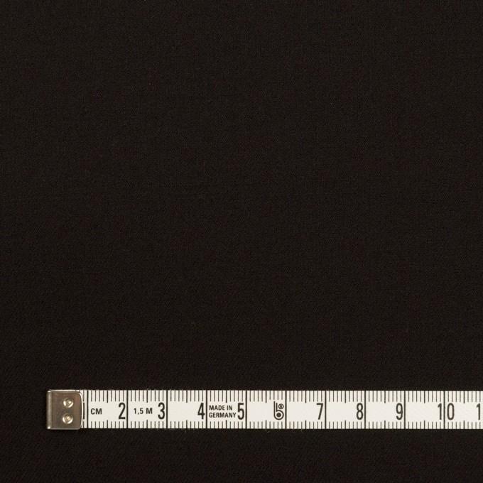 ウール&キュプラ混×無地(ブラック)×サージストレッチ_イタリア製 イメージ4
