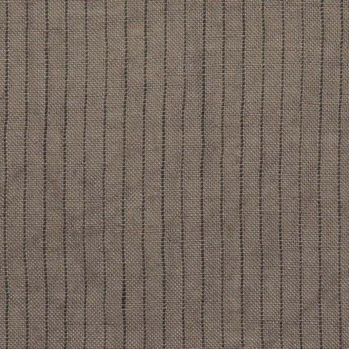 リネン×ストライプ(アッシュグレー)×薄キャンバス・ワッシャー イメージ1