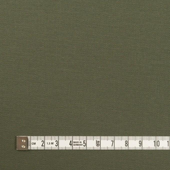 コットン&ポリウレタン×無地(アッシュカーキグリーン)×チノクロス・ストレッチ_全2色 イメージ4