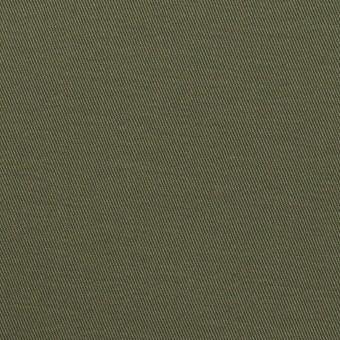 コットン&ポリウレタン×無地(アッシュカーキグリーン)×チノクロス・ストレッチ_全2色