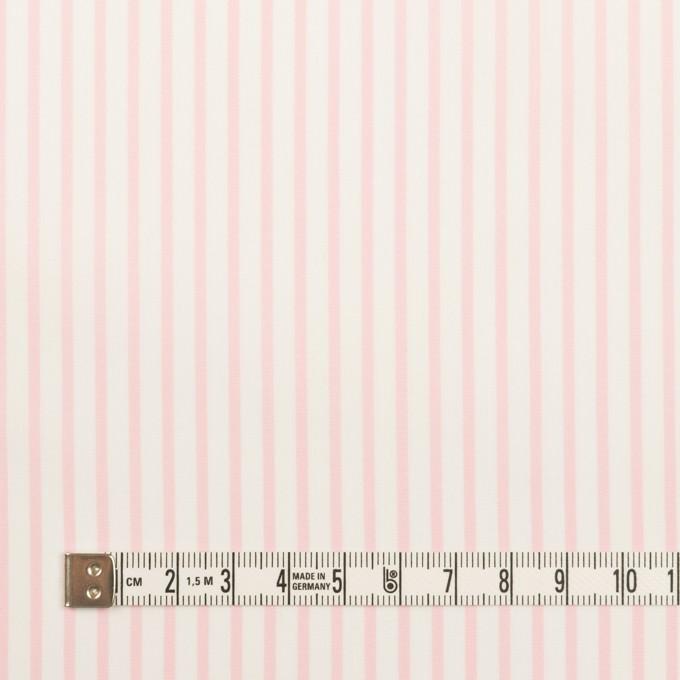 コットン&ポリウレタン×ストライプ(ベビーピンク)×ブロードストレッチ イメージ4
