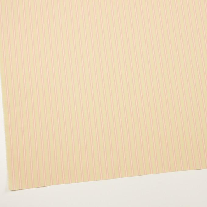 コットン&キュプラ×ストライプ(クリームイエロー&ピンク)×ローン イメージ2