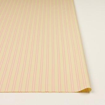 コットン&キュプラ×ストライプ(クリームイエロー&ピンク)×ローン サムネイル3