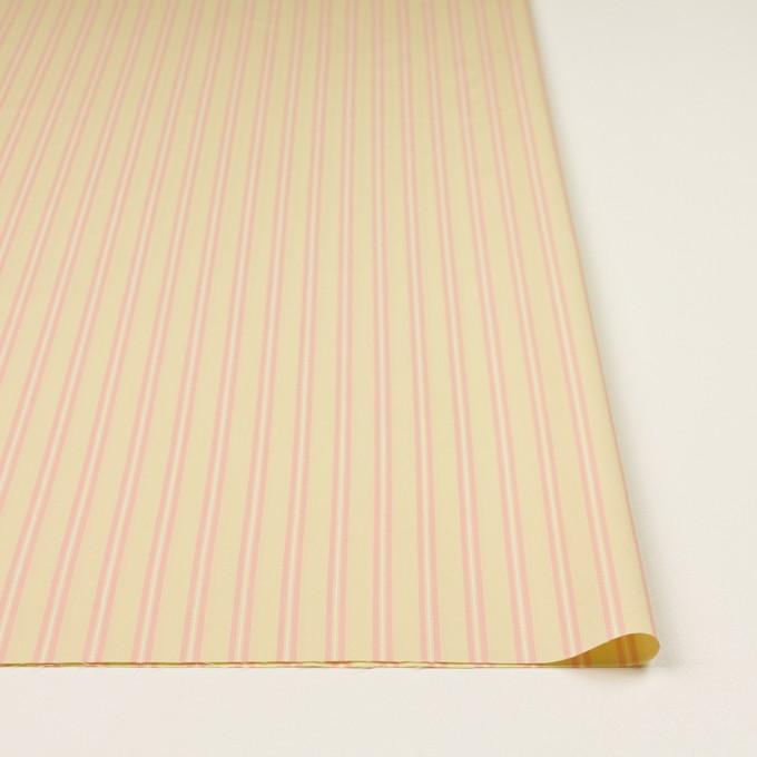 コットン&キュプラ×ストライプ(クリームイエロー&ピンク)×ローン イメージ3
