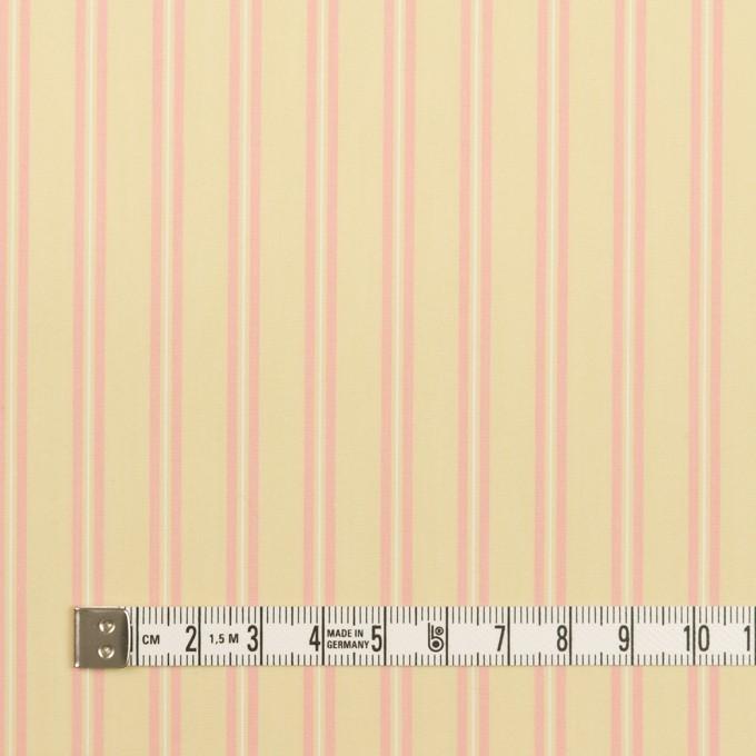 コットン&キュプラ×ストライプ(クリームイエロー&ピンク)×ローン イメージ4