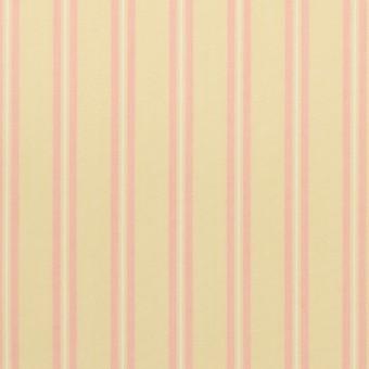 コットン&キュプラ×ストライプ(クリームイエロー&ピンク)×ローン