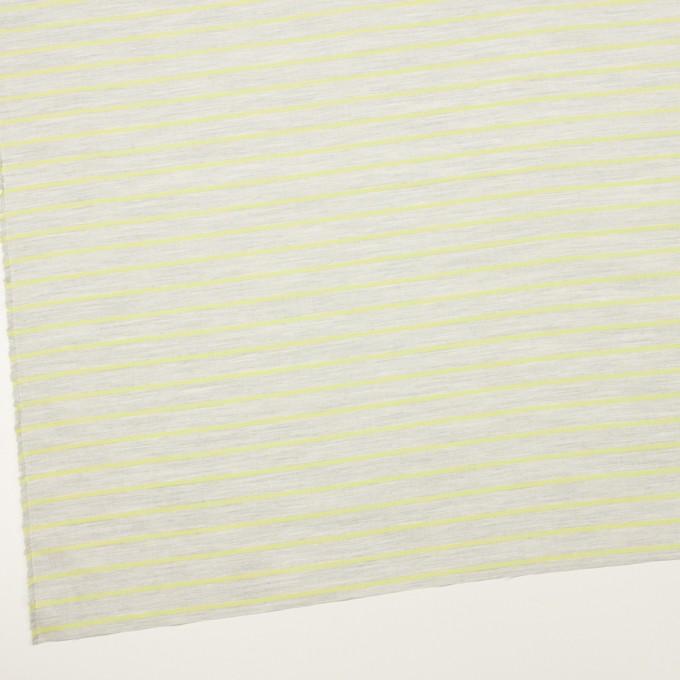 コットン×ボーダー(杢グレー&イエローグリーン)×ローンジャガード イメージ2