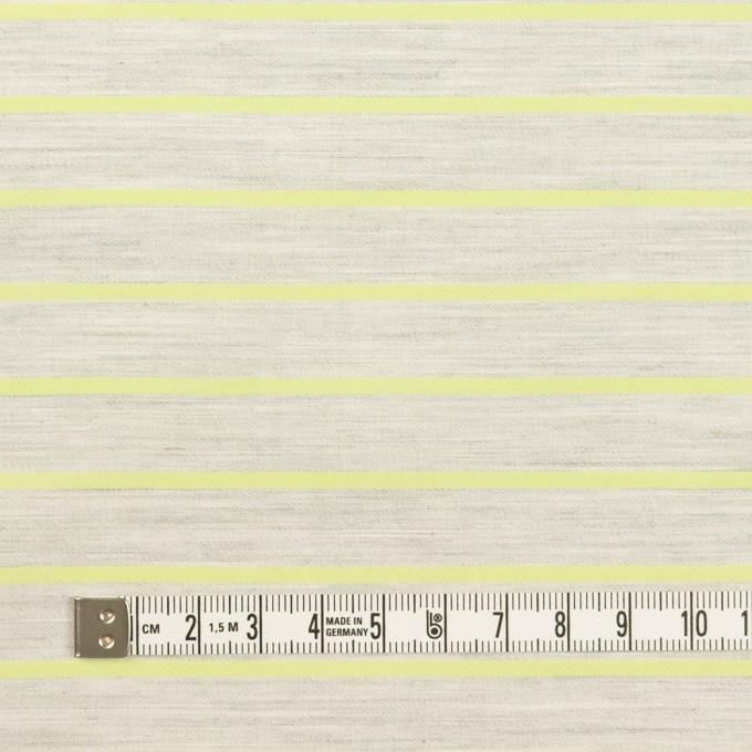 コットン×ボーダー(杢グレー&イエローグリーン)×ローンジャガード イメージ4