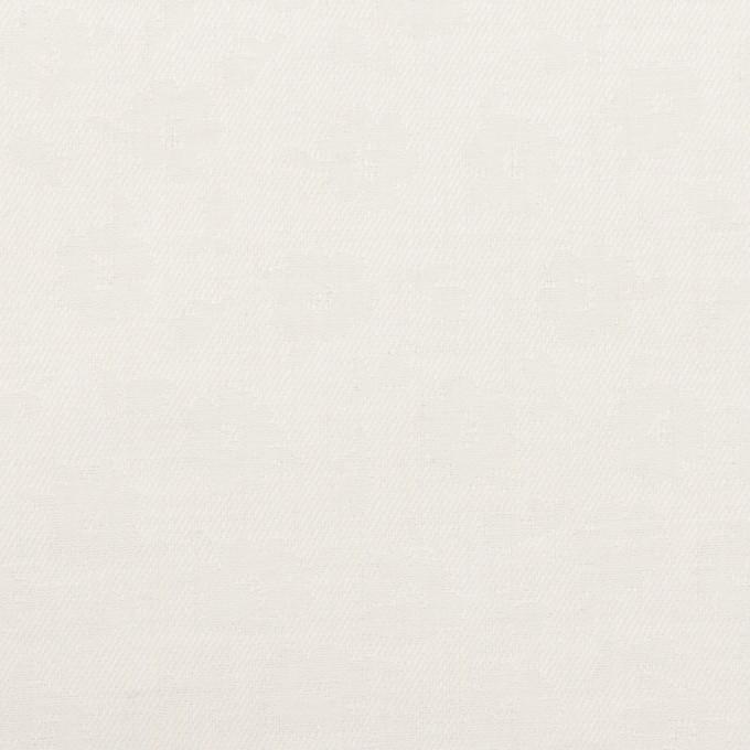 コットン×フラワー(ホワイト)×サテンジャガード イメージ1
