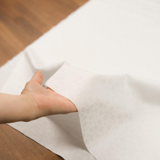 コットン×フラワー(ホワイト)×サテンジャガード イメージ5